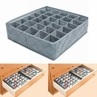 Wholesale bamboo charcoal clothes storage for sale - Group buy Underwear Socks Drawer Organizer Bamboo Charcoal Grid Underwear Packing Box Storage Box Cells Foldable Bamboo Charcoal