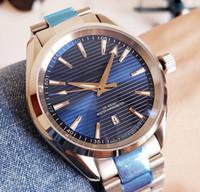 reloj de buceo hombre dial azul automatico al por mayor-Reloj de lujo de alta calidad para hombres, automático, mecánico, azul, fecha de marca, relojes de moda militar para hombre, reloj de buceo, reloj suizo de diseño