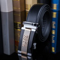 Wholesale long belts for sale - Group buy Fashion Belt Men Design Belt Silver Gold Black Luxury Long Automatic Leather Genuine Real Man Brand