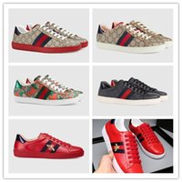 Wholesale high quality hard drives resale online - 2019 Designer Ace Sneakers Loafers high quality Genuine Leather Luxurious Brand Men Women Low Cut Casual Zapatos Driving Shoes