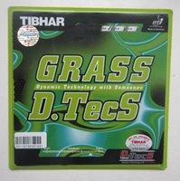 tischtennis langer pimple gummi großhandel-Original Tibhar GRASS D.TECS lange Pickel im Tischtennis Gummi Tischtennisschläger Schlägersport
