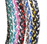Wholesale titanium braided for sale - twist weaves necklace Germanium Titanium Ropes Necklace Rope quot Titanium Ionic Sports Necklace Baseball Softball Soccer Braided Twist