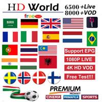 ingrosso scatole google tv-Abbonamento IP 7000+ Europa Francia Spagna Portogallo Germania USA CANADA TV abbonamento per Smart TV x96 H96 contenitore di android TV
