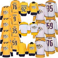 нэшвилл хоккей оптовых-Nashville Predators Хоккейные майки 35 Pekka Rinne 76 P.K. Subban 59 Roman Josi 92 Ryan Johansen Рубашки высокого качества Рубашка для взрослых