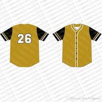 Wholesale baseball jerseys logos resale online - Top Custom Baseball Jerseys Mens Embroidery Logos Jersey Cheap Any name any number Size M XXL