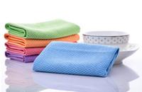 ingrosso pulitore di straccio di vetro-Fibre superfine Asciugamano per la pulizia Tovagliolo assorbente per la cucina in vetro Salviette per la cucina Tovagliolo per auto Asciugamani straccio per la pulizia utile