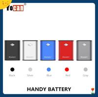 handheld acessível venda por atacado-Yocan Handy Battery Box Mod 500 mAh Pré-aqueça VV E Cigarro Vaporizador Palm Handheld Vape Bateria para Cartuchos De Óleo De Espessura 100% Autêntico