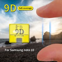 Wholesale note sumsung online – custom 9D Camera Lens Tempered Glass For Sumsung Galaxy S20 Ultra S10 Plus Note Pro A80 Clear Screen Protector Film