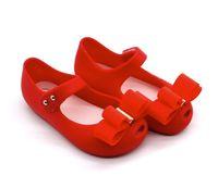 sandálias do natal das meninas venda por atacado-2019 novo estilo hot shoes baby girl presente de natal PVC shoes sandálias de verão menina arco projeto três cores