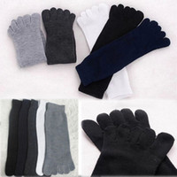 Wholesale fingers five toe socks resale online - Five Fingers Cotton Ankle Toe Socks Solid Breathable Brand Winter Autumn Soft Casual Business Socks for adult many colors offer choose