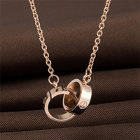 Wholesale pendant rose gold resale online - Designer Jewelry LOVE Necklace Plated K Gold Screw Necklace with Rose Gold Platinum Luxury Woman love gift styles