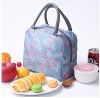 sac à lunch pour hommes achat en gros de-Flamingo Thermal Lunch Bag pour Femmes Enfants Hommes Bureau travail Isotherme Cooler Pack de stockage Adultes Pique-Nique Boîte Alimentaire Fourre-Tout KKA6529