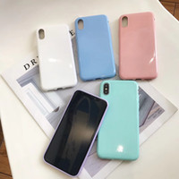 Wholesale chinese phone simple for sale - Group buy Simple solid color candy TPU For XiaoMi x mobile phone shell glitter For XiaoMi SE Lite soft shell