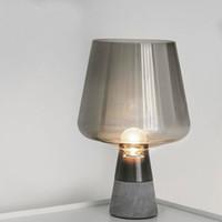 çimento lambası toptan satış-İskandinav Masa Lambaları Cam çimento Masa Işık Başucu Çalışma Odası Oturma Odası Masa Lambası Daimi Işık Fikstür ev aydınlatma