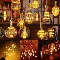 ingrosso lampadina dell'annata del filamento della lampadina principale-E27 3W Edison Lampadina Vintage antico stile retrò Filamento luminoso LED Decor Festa di Natale Festa Illuminazione a LED Decor