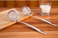 ingrosso filtro fine-Filtro in acciaio inossidabile Colore argento Maglia fine Colino Setaccio Setaccio Cucina Cibo Filtro per verdure Filtro Olio Cucchiaio wh1155