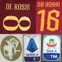ingrosso lettere di plastica d'epoca-# 8 DE ROSS Roma stampa set di nomi di calcio # 16 DE ROSS lettere stampate a caldo del calciatore stampate patch di adesivi in plastica vintage per calcio