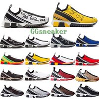 spor ayakkabıları kumaş toptan satış-2020 Tasarımcı Ayakkabı Sorrento Sneaker Örme rahat ayakkabı erkekler Kumaş Stretch Jersey Kayma-on Kadınlar Kauçuk Nefes Günlük Spor Trainer