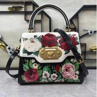 Wholesale g totes resale online - Designer D o G o Italy new leather printed rose printed fashion hand shoulder bag cm