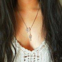Wholesale geometric necklaces resale online - Necklace Chain Hollow Women Necklaces Jewelry Ladies Geometric Unisex Pendant Gold Color Vintage European Stainless Halskette
