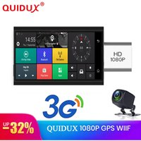 Wholesale car remote dvr for sale - Group buy QUIDUX inch G Car DVR Camera GPS tracker FHD P WDR auto video registrator Recorder Night Vision G sensor Remote Monitor