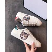 ingrosso gatto stampa moda-Scarpe firmate Cat Head Stampate in 3D Uomo Donna Sneaker di lusso firmate Scarpe outdoor di alta qualità