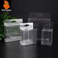 Wholesale cosmetic stores resale online - Pvc Store Shelves Hanging Hole Hook Display Gift Box Transparent Plastic Packing Coffee Souvenir Electronic Candy Cosmetic Toy