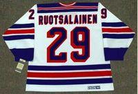 Wholesale youth jerseys new york rangers resale online - Custom Men Youth women Vintage REIJO RUOTSALAINEN New York Rangers CCM Hockey Jersey Size S XL or custom any name or number