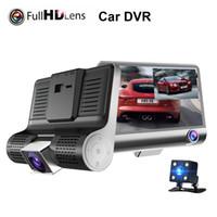 araba kamera kaydedici dijital toptan satış-3 Lens 1080 P HD Sürüş Kaydedici Araba Dikiz Aynası Araba DVR Dijital Kamera 170 Derece Görüş Gece Görüş Sürüş Kaydedici HHA211