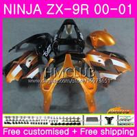 Wholesale zx9r gold for sale - Group buy Body For KAWASAKI NINJA ZX R ZX900 ZX ZX9 R Bodywork HM CC ZX R ZX9R ZX R Full Good Gold black Fairing