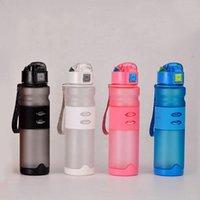 Wholesale flip rope resale online - Reusable Plastic Water Bottle BPA Free Plastic Sports Water Bottle Leak Proof Locking Flip Top Lid