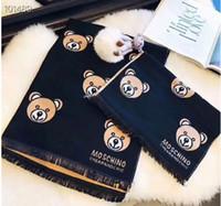 ingrosso regali adulti per le donne-Designer Inverno Sciarpa di lana Pashmina per le donne 2018 New Warm Vivienne Coperte Sciarpe Sciarpe Lana Cashmere Sciarpa di cotone Regali bambino adulto