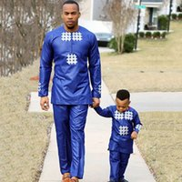 Wholesale h pant for sale - Group buy H D african men kid boy clothing mens dashiki shirt africa bazin riche outfit clothes tops pant suits vetement africain