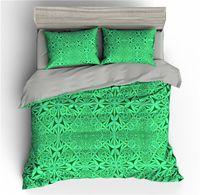 Wholesale 3d print bedding set full for sale - Group buy Bohemia Green Floral D Bedding Sets Duvet Cover Set Quilt Covers King Size Bed Set Queen Full Size Comforter Bedding