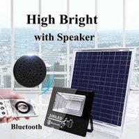 foco musical venda por atacado-Edison2011 2019 luz da lâmpada solar inteligente música bluetooth luz de rua ip67 holofote ao ar livre holofote holofote controle de luz de controle remoto
