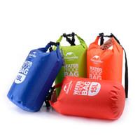 Wholesale waterproof bag 15l resale online - 15L Ultra portable waterproof travel bags colors outdoor drifting swimming waterproof bags dry storage stuff sacks ZZA792
