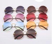 новые солнечные очки волны оптовых-Новые солнцезащитные очки моды сливы цветут без оправы женские солнцезащитные очки 58014