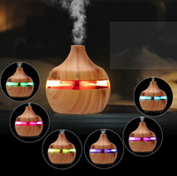 Wholesale electric diffuser oils for sale - Group buy Electric Humidifier Aroma Essential Oil Diffuser Ultrasonic Wood Grain Air Humidifier USB Mini Mist Maker LED Light For Home Office