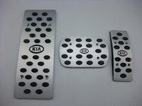 Wholesale aluminum car pedals resale online - sale for kia k2 AT MT aluminum pedals Fuel Brake rest foot pedal car pedals fast FAST SHIP
