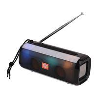 anten w toptan satış-TG144 Anten FM radyo ile Yeni Led Bluetooth Hoparlör multi-fonksiyonel Açık BT Hoparlörler Kablosuz Stereo 10 W Subwoofer'lar Bas