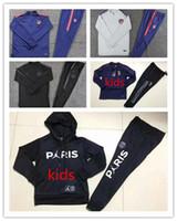 eğitim setleri oğlan çocuk toptan satış-Madrid Çocuklar Ceket Eğitim Takım Takımı Futbol Forması GRIEZMANN F TORRES KOKE SAUL CARRASCO Futbol Ceket erkek çocuk Eşofman Setleri Chándal