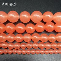 9a2bfe2382d0 10 unids   lote agujero redondo naranja suelta perlas 4 6 8 10 12 mm piedra  natural suelta perlas pendientes sombreros diy accesorios populares