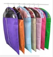 Wholesale suit protectors for sale - Group buy Mix color New Clothes Dress Garment Suit Cover Bag Dustproof Jacket Skirt Storage Protector color random Top Quality