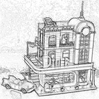 media modelo al por mayor-10260 En Stock creador calle del centro comensales 15037 2480Pcs Street View Model Building Blocks Ladrillos Educación Niños Juguetes