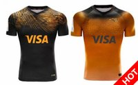 Wholesale rugby jerseys free shipping resale online - new JAGUARES Home away rugby Jerseys League shirts jaguars leopard rugby shirt jaguares Jersey s xl DHL
