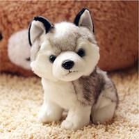 Wholesale small stuff toys for sale - Group buy Kawaii Puppy Stuffed Toys cm Cute Simulation Husky Dog Plush Toys Stuffed Doll Kids Baby Toys Plush Husky Dolls