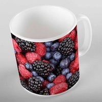 Wholesale strawberry cups resale online - Else Tropical Fruits Red Black Strawberry Blackberry d Print Gift Ceramic Drinking Water Bear Coffee Cup Mug Kitchen