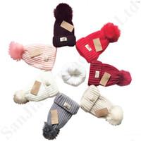 Wholesale white crochet cap for sale - Group buy Beanie Cap Knit Beanies Ski Caps Australia U G Hats Women Winter Pompom Outdoor Casual Crochet Hat Boutique Color C91101