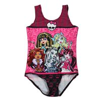crianças menina bodysuit venda por atacado-Venda quente Meninas Maiô 2016 Maiôs Impressão Digital One Piece menina Bodysuit Swimwear Crianças Beachwear badpak meisje