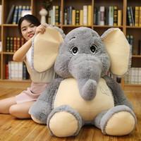 brinquedo gigante de elefante venda por atacado-Orelhas gigante de pelúcia elefante Brinquedos Grey Stuffed Big Flappy longas pelúcia elefante animal brinquedos para crianças Presente de Natal para crianças MX190723